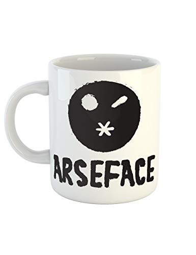 clothinx Kaffeetasse mit Aufdruck Arseface Ass Face