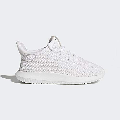 adidas Unisex-Kinder Tubular Shadow Fitnessschuhe, Footwear White/Core Black, 24 EU