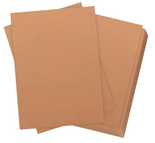 ae0b71cae de 60 hojas Papel kraft DIN A4 320 g de calidad Absofine Naturkarton de  alta calidad