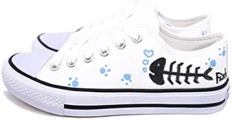 YSFU scarpe da ginnastica scarpe da ginnastica da Donna con Scarpe da Ginnastica Vulcanizzate A Fondo Piatto, Scarpe Casual da Uomo Bianche...   I Materiali Superiori    Scolaro/Ragazze Scarpa