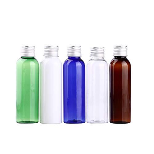 H & D Multicolor Kosmetik Kunststoff Flasche Probe leer nachfüllbar Container Cosmetics Dosierpumpe aus Plastik Verpackung Flasche Reise Probenbehälter Kosmetiktasche Travel Flasche, 5 x von Pack Screw cap squeeze bottle