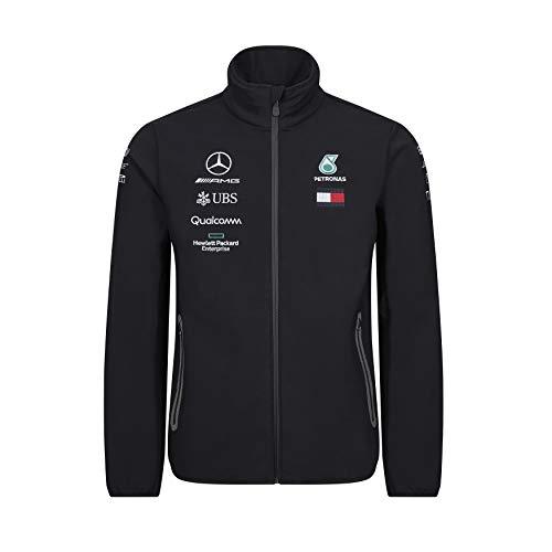 Official Formula 1 Merchandise | Männer | Offizielle Mercedes-AMG Petronas Motorsport 2019 F1TM | Team Softshell Jacke | Schwarz | Polyester | Größe: XS