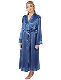 06fd55e24caa0 Indigo Sky Ladies Gorgeous Charmeuse Long Wrap Satin Dressing Gown