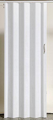 Falttür Schiebetür Tür Kunststofftür weiss gewischt farben Höhe 203 cm Einbaubreite bis 103 cm Doppelwandprofil Neu