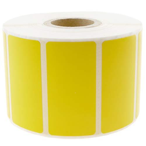 BeMatik – Rotolo di 1100 etichette adesive per stampante termica diretta 50,8 x 25,4 mm giallo (KU013)