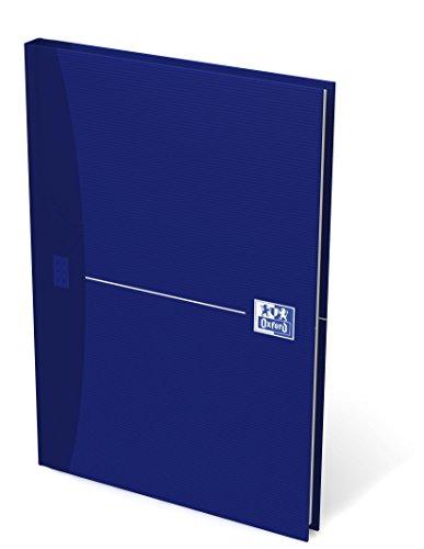 OXFORD Gebundene Bücher 5er Pack A5 kariert 96 Blatt mit abtrennbaren Ecken blau Geschäftsbuch Tagebuch Kladde Journal Skizzenbuch