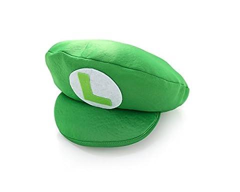 Costumes Enfant Luigi Classique - Casquette en mousse verte Luigi Super Mario