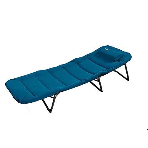 XJYA Klappbett Gästebett mit Aluminiumrohr Gitterbasis - 250 lbs max Gewicht Kapazität,Extra Dicke Matratze Wildlederbezug,Gast Versteck,Verstellbare Rückenlehne Mit Kissen -