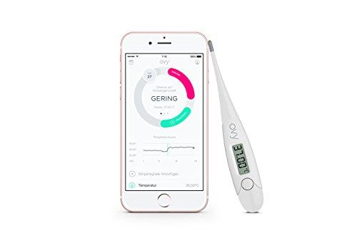 Basalthermometer zur Zykluskontrolle mit gratis App (iOS & Android) von Ovy | Kinderwunsch, Baby Fieberthermometer oder hormonfreie Verhütung