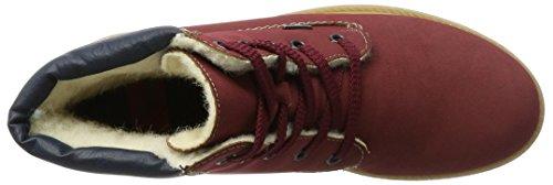 Rieker Damen Z1420 Stiefel, Rot (VinoNavyKastanie), 38 EU