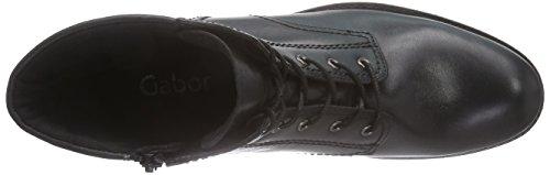 Gabor Gabor Fashion, Stivali classici imbottiti a gamba corta donna Nero (Schwarz (schwarz (Micro) 87))