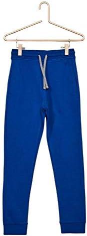 Kiabi Boys Sweatshirt Cotton Fabric Tracksuit Bottoms, Blue