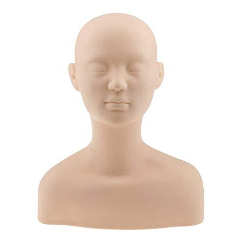 TOOGOO Professionnel Tete Epaule Os d'exercice Mannequin en Silicone pour Maquillage Extension Cils et Massage Exercice