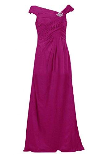 Sunvary Retro con lacci, linea fondo arricciato Gowns per abiti da sera o da cerimonia, con diamanti Red