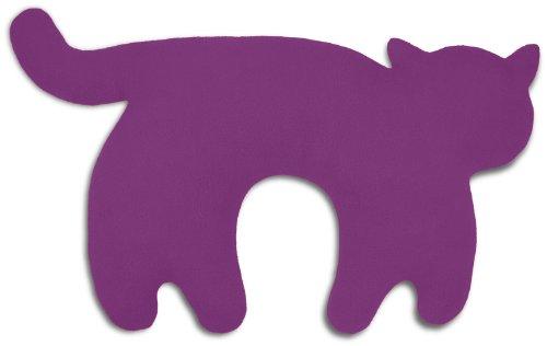Leschi Nackenkissen | 36706 | Die Katze Feline | stehend | groß (Für Reisen in Auto, Flugzeug, Bus und Bahn) Farbe: Purpur / Mitternacht