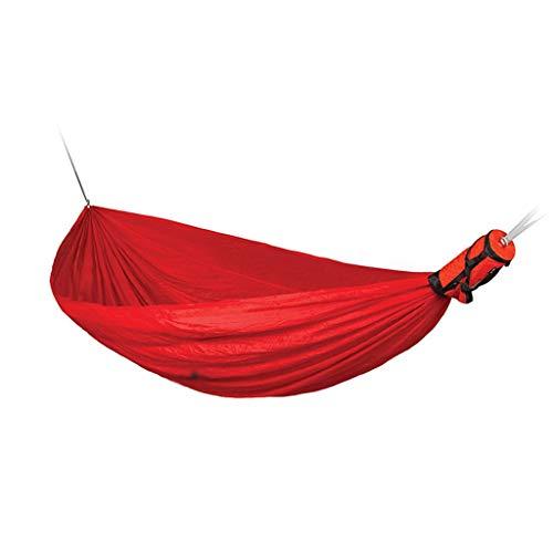 JLJ Outdoor-Freizeit Leichte tragbare Hängematte Geeignet für Reise-Picknick Klettern Single Double Hammock 3 Farben (Farbe : Rot, größe : 300cm×150cm)
