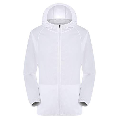 kolila Unisex Klimatisierte Jacke Mantel Sommer Outdoor Kühler Langarm Sonnenschutz Kapuzen Oberteile Tops Sweatshirt Herren Damen Reversible Hooded Mantel