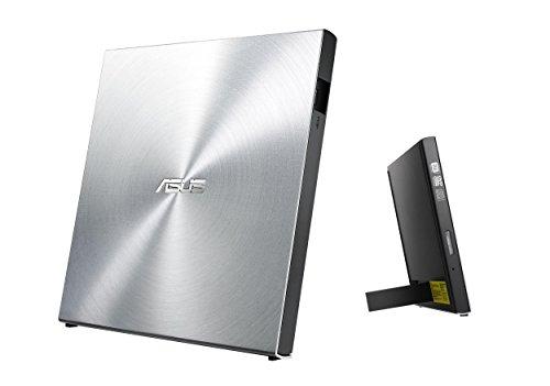Asus SDRW-08U5S-U Ultradrive externer Slim DVD Brenner (8x DVD±R, 6x DVD±R DL, 5x DVD-RAM, USB 2.0) (inkl. Brennsoftware) Silber
