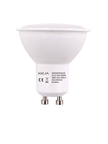 LED FACTORY 5W MR16 GU10 LED Lampe, Ersatz für 50W Halogenlampen, 400lm, Warmweiß, 2800K, 100° Abstrahlwinkel, LED Birne, LED Leuchtmittel