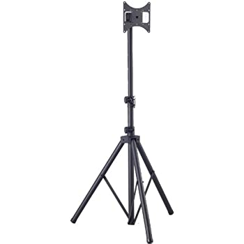 Allcam TP940 Tripod Portable Floor Stand with Universal Vesa Mounting Bracket for 19-37 inch LCD/LED Monitors/TV, Tilt up/down 20°, Freely Pan 360°, Max Height 180 cm, Up to Vesa 200 x 200mm