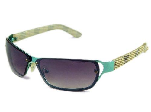 Design unique très à carreaux shades lunettes de soleil marron foncé cE 2563/uV400 LWgkHts