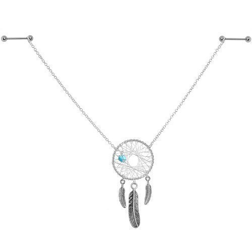loveorama.de Nippelkette Swarovski-Kristalle Traumfänger-Design handgefertigt