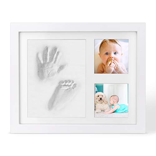 Cornice impronte bambino in argilla,  cornice impronte neonato set impronte bimbi, kit portafoto con impronta della manina e del piedino del bebè- il regalo bimbo perfetto