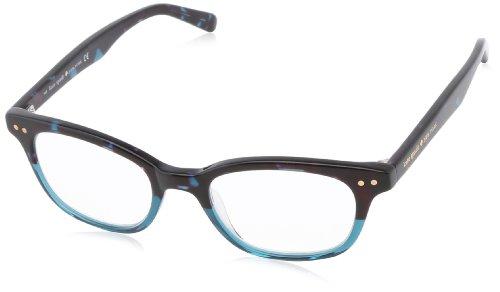 Kate Spade Women's Rebec Rectangular Reading Glasses,Sky Blue, Tortoise 2.5,49 mm (New Rebecca Kate Spade York)