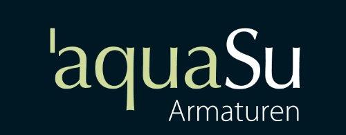 AquaSu – Badewannenarmatur, Zweigriffmischer Athenas inklusive Brausegarnitur, Chrom - 6