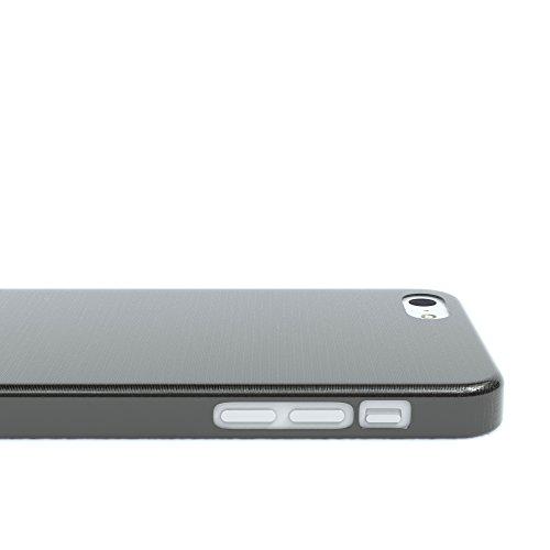 "Apple iPhone 5C Hülle, EAZY CASE Ultra Slim Cover ""Clear"" - Premium Handyhülle Transparente Schutzhülle, Smartphone Case in Transparent Brushed Anthrazit"