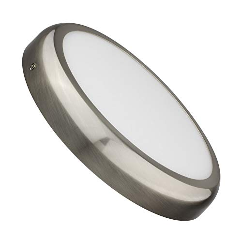 Plafón LED Circular Design 24W Silver Blanco Cálido 2800K-3200K efectoLED