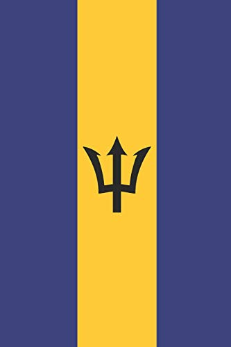 Barbados Flag Notebook - Barbadian Flag Book - Barbados Travel Journal: Medium College-Ruled Journey Diary, 110 page, Lined, 6x9 (15.2 x 22.9 cm)