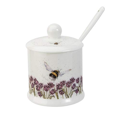 Royal Worcester Wrendale Designs Flight of the Humble Bee Konserventopf mit Deckel und Löffel -