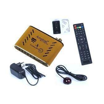 Mini ricevitore satellitare digitale Full HD con USB e lettore multimediale compatto - 220 V 12 V - campeggio DVB-S2 - ideale per Astra, Hotbird, Türksat, Nilesat ...