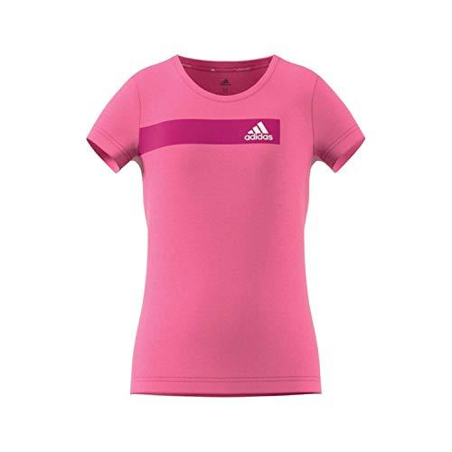 adidas Mädchen Training Cool T-Shirt Semi Solar Pink/White 152