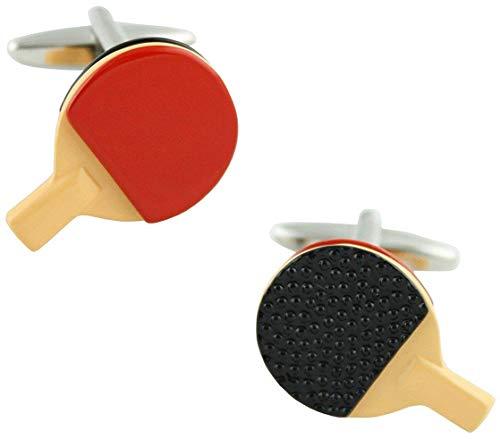 Ducomi Linea Lusso Manschettenknöpfe aus Silber und Gold plattiert – Herren-Manschettenknöpfe Ultraleggeri für Hemd – Hochwertige Geschenkidee Ping Pong