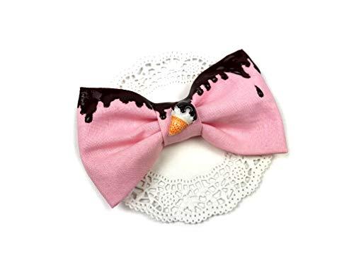 Haarspange Haarschleife Candy rosa Schokolade