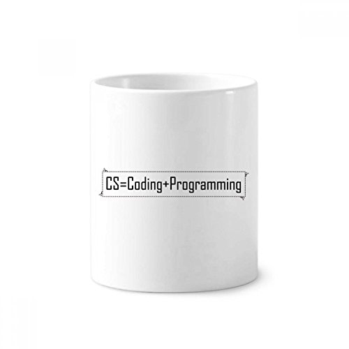 DIYthinker CS Enthält Codierung und Programmierung Keramik Zahnbürste Stifthalter Tasse Weiß Cup...