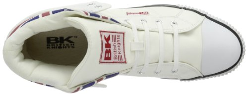 British Knights  ROCO UNION JACK, Hi-Top Slippers homme Blanc - Weiß (white multi 1)