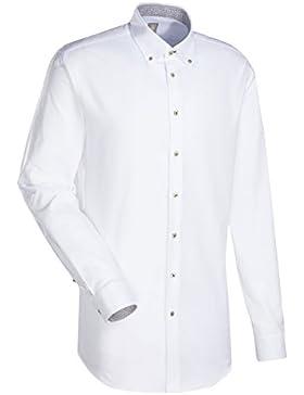 JACQUES BRITT Business Hemd Slim Fit 1/1-Arm Bügelleicht Uni / Uniähnlich City-Hemd Button-Down-Kragen Manschette...