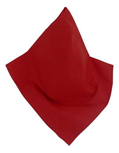 h | Bandana in Rot | 55 x 55 cm | Halstuch | Teichmann ()
