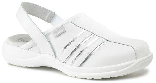Toffeln Ultra Lite 0424 sportive sabots bride du talon allaitement chaussures Blanc/Argent