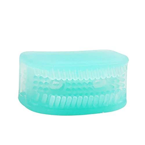Faule Zahnbürste 1/5-teilig Mini Tragbar 360° Kein Silikon Lazy Zahnbürste Rundum Kaugummi Zahnbürste Weich Reinigung Zahnbürste (5-teilig, Grün