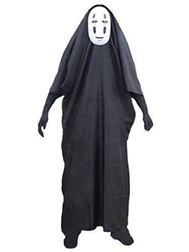 FStory&Winyee Damen Herren Kostüm Halloween Horror Maske Umhang -