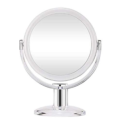 GEXING Espejo Maquillaje Rotación de 360 ° Transparente a...