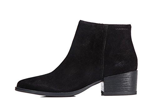 Vagabond Marja Shoes Black - Stivaletti Neri Scamosciati