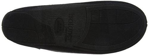 Stripe Uomo Scarpe Nero Mocassino Pantofola Isotoner nero Mens Basse Bwpqzz