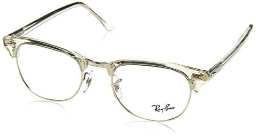 Ray-Ban Unisex-Erwachsene 0RX 5154 2001 49 Brillengestelle, Weiß (White Transparent)