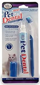 Pet Dental Oral Hygiene Kit for cats & kittens from four paws