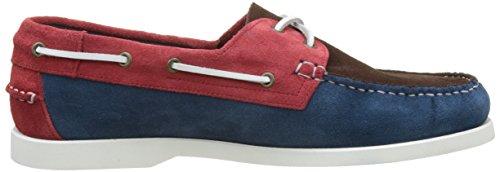 Pellet Herren Tropic E17 Bootschuhe Bleu (Velours Bleu/ Marron / Rouge)